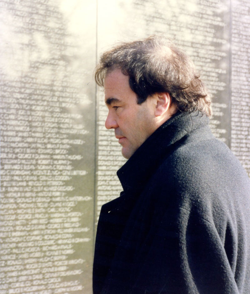 Oliver Stone at the Vietnam War Memorial
